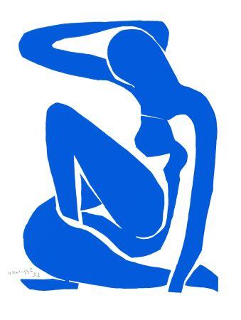 Lithograph Matisse - Nu Bleu I (Blue Nude I)