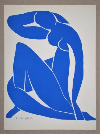 Lithograph Matisse (After) - Nu bleu II.-1952