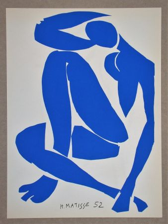 Lithograph Matisse (After) - Nu bleu IV.-1952