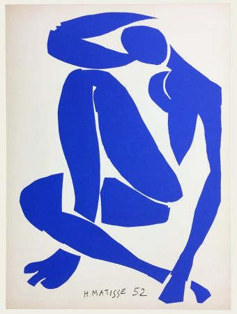 Lithograph Matisse - Nu Bleu IV (1958)