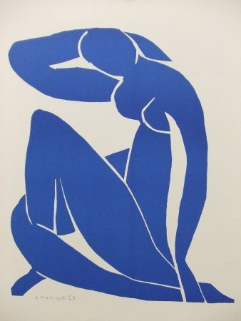 Lithograph Matisse - Nu bleu(II)