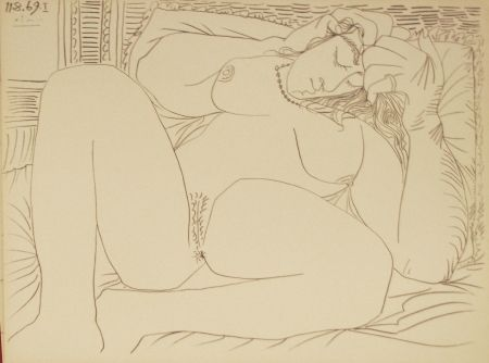 Lithograph Picasso - Nu Couché I