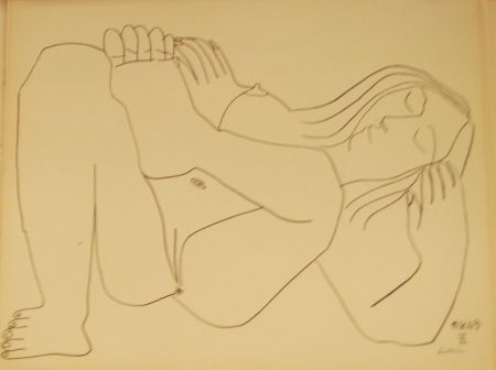 Lithograph Picasso - Nu Couché II
