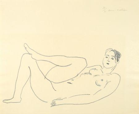 Lithograph Matisse - Nu couché, jambe repliée - Étude de jambes