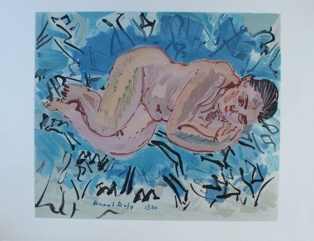 Lithograph Dufy - Nu couche