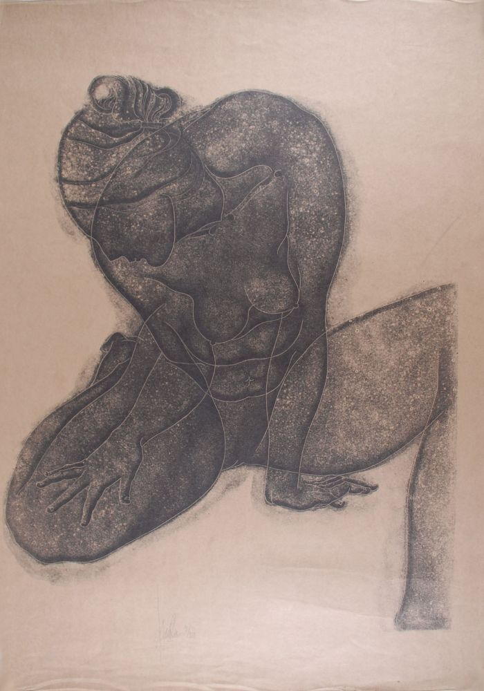 Lithograph Fulla - Nu de Dame assise I