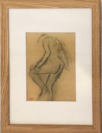 Lithograph Degas - Nu de dos