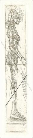 Engraving Giacometti - Nu De Profil.