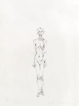 Lithograph Giacometti - Nu Debout II