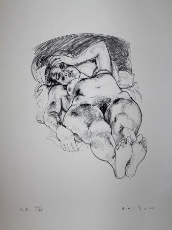 Lithograph Bastow - Nu  Féminin / Female Nude - 1