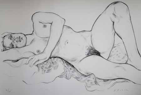 Lithograph Bastow - Nu  Féminin / Female Nude - 5