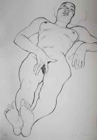 Lithograph Bastow - Nu  Féminin / Female Nude - 6