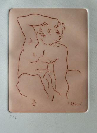 Etching And Aquatint Cocteau - Nu Masculin