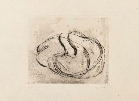 Etching And Aquatint Fautrier - Nu noir