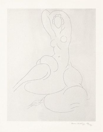 Etching Matisse - Nu Pour Cleveland