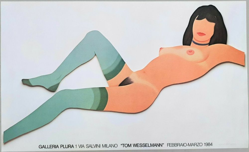 Lithograph Wesselmann - Nude