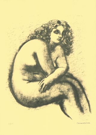 Lithograph Messina - Nude