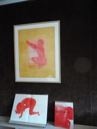 Lithograph Garache - .Nude