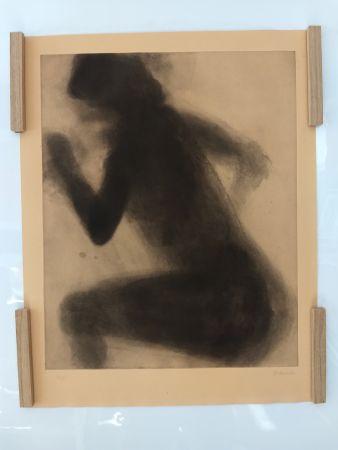 Lithograph Garache - Nude