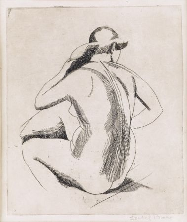 Etching Bishop - Nude (backview)