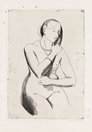 Etching Bishop - Nude (front view)