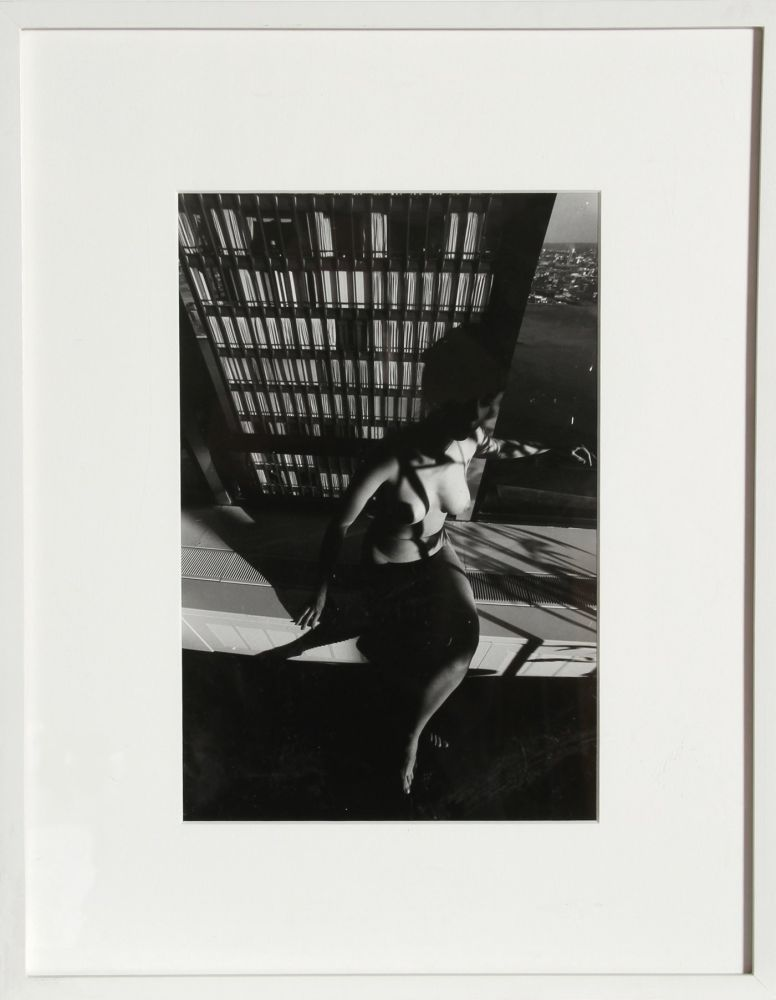 Photography Clergue - Nude on a Ledge