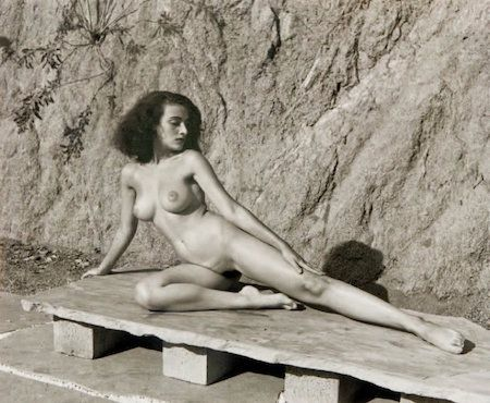 Photography De Dienes  - Nude on Stone Bench
