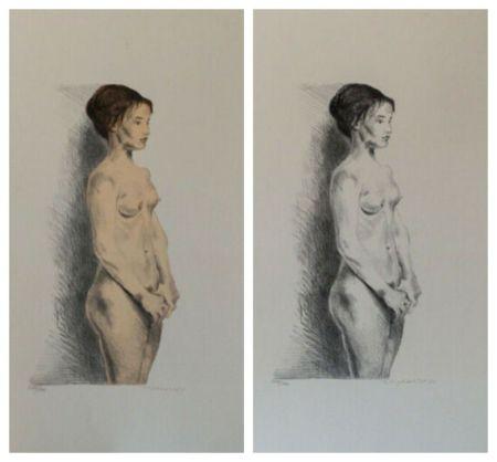 Lithograph Soyer - Nude Woman Portfolio