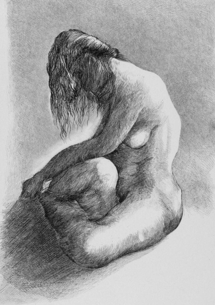 Engraving Carrera - Nudo