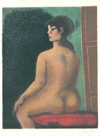 Lithograph Gentilini - Nudo di Luisa