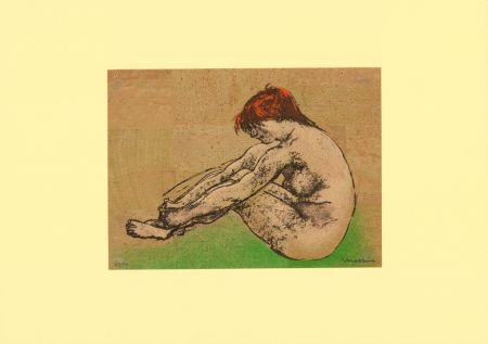 Lithograph Messina - Nudo / Nude