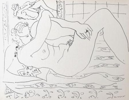 Lithograph Matisse - Nue allongée dans le miroir