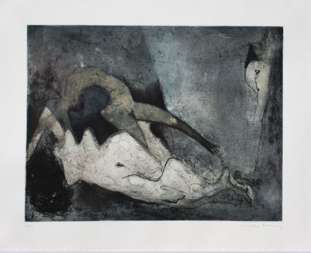 Etching And Aquatint Tanning - Nue couchée