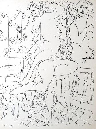 Lithograph Matisse - Nue dans le miroir