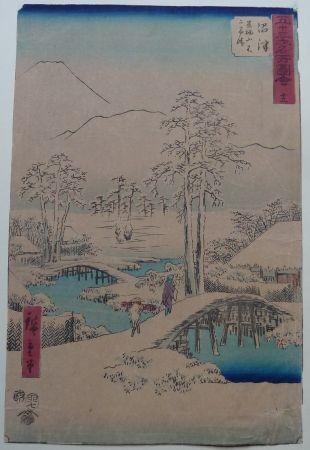 Woodcut Hiroshige - Numazu
