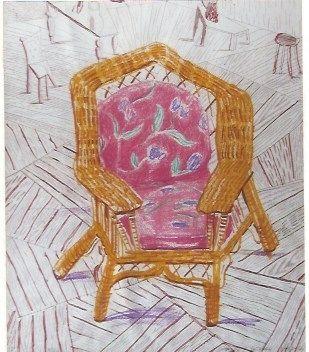 Screenprint Hockney - Number one chair