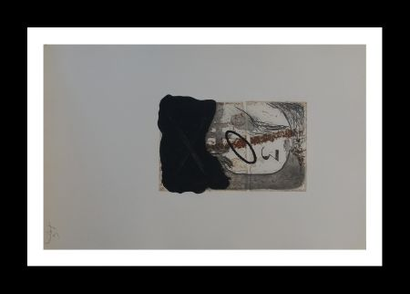 Etching And Aquatint Tàpies - Numero 3