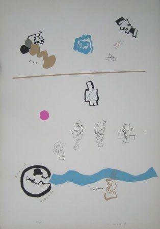 Lithograph Mompó - Nunca solo