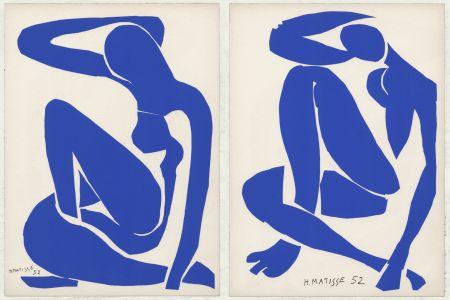 Lithograph Matisse - Nus Bleus III et IV (1958)