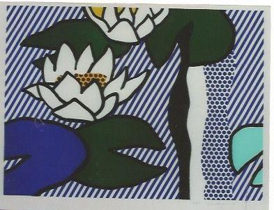 Lithograph Lichtenstein - Nympheas - Water Lilies