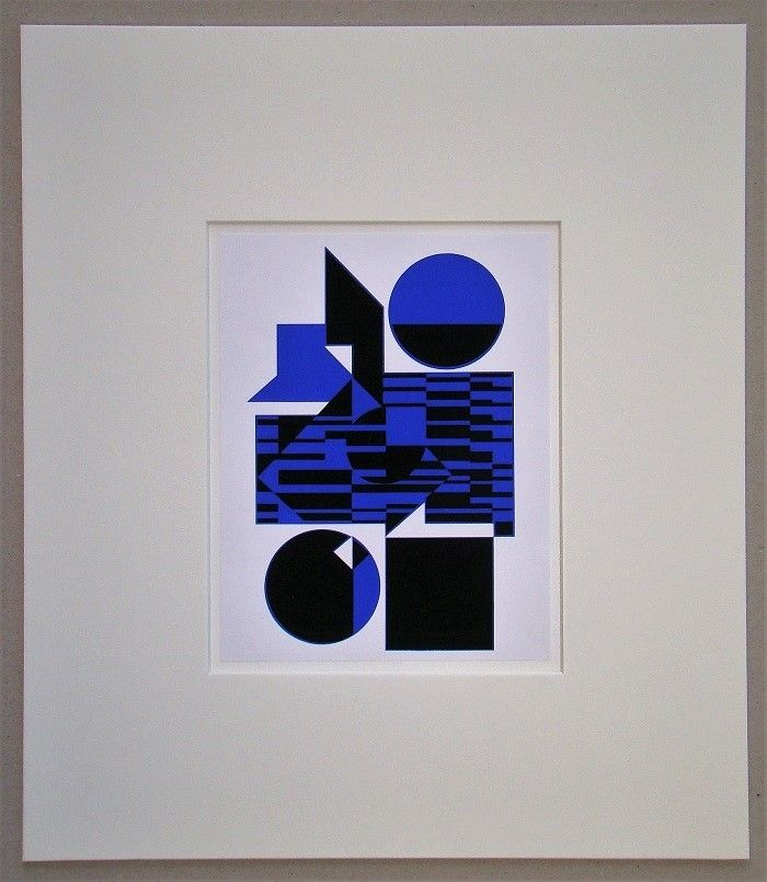 Screenprint Vasarely - OB - 1956