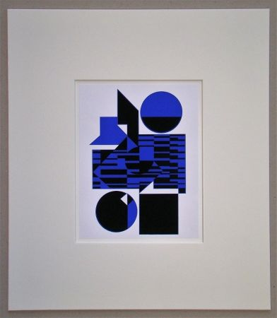 Screenprint Vasarely - OB - 1956