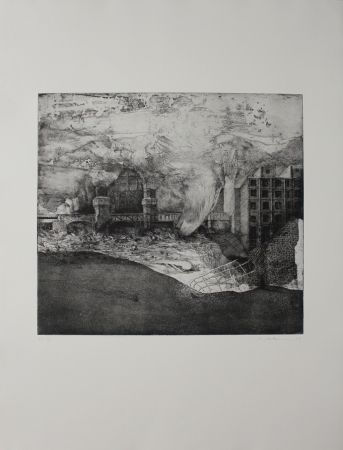 Etching And Aquatint Ackermann - Oberbaum-Brücke