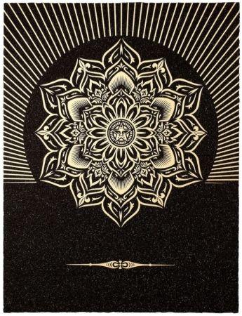 Screenprint Fairey - Obey Lotus Diamond (Black / Gold)