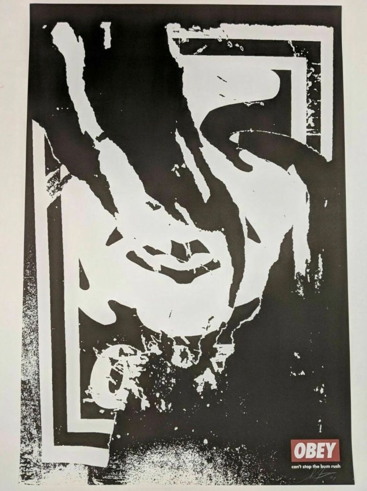 Lithograph Fairey - Obey (Ripped)