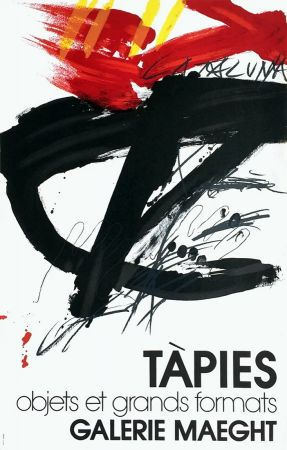 Lithograph Tàpies -