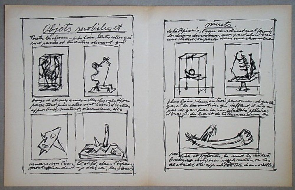 Lithograph Giacometti - Objets mobiles