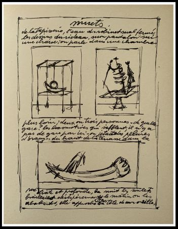 Lithograph Giacometti - OBJETS MOBILES ET MUETS II