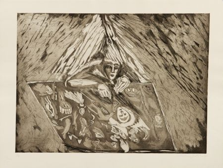 Etching And Aquatint Paladino - Occhiodibrace