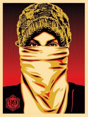 Screenprint Fairey - Occupy Protester
